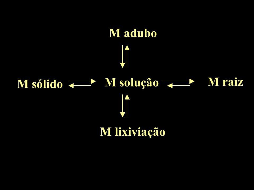 M adubo M sólido M solução M raiz M lixiviação