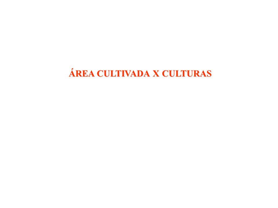 ÁREA CULTIVADA X CULTURAS