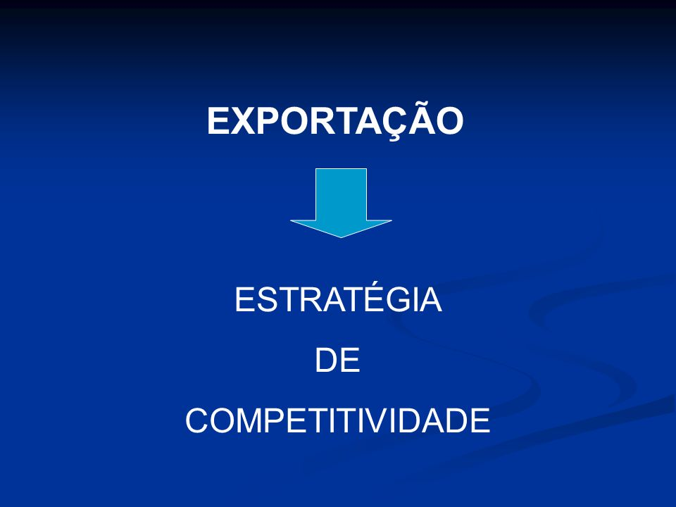 EXPORTAÇÃO ESTRATÉGIA DE COMPETITIVIDADE
