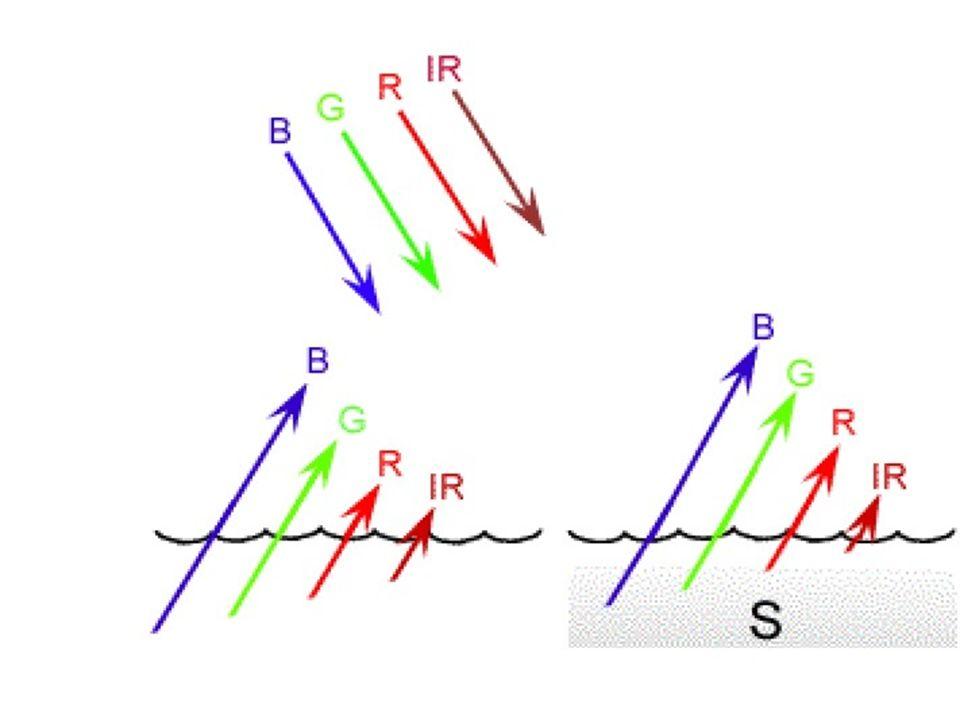 As partículas responsáveis pela maior proporção do espalhamento no meio aquático possuem diâmetros maiores do que 2 μm, ou seja muito maiores que os comprimentos de onda com que interagem.