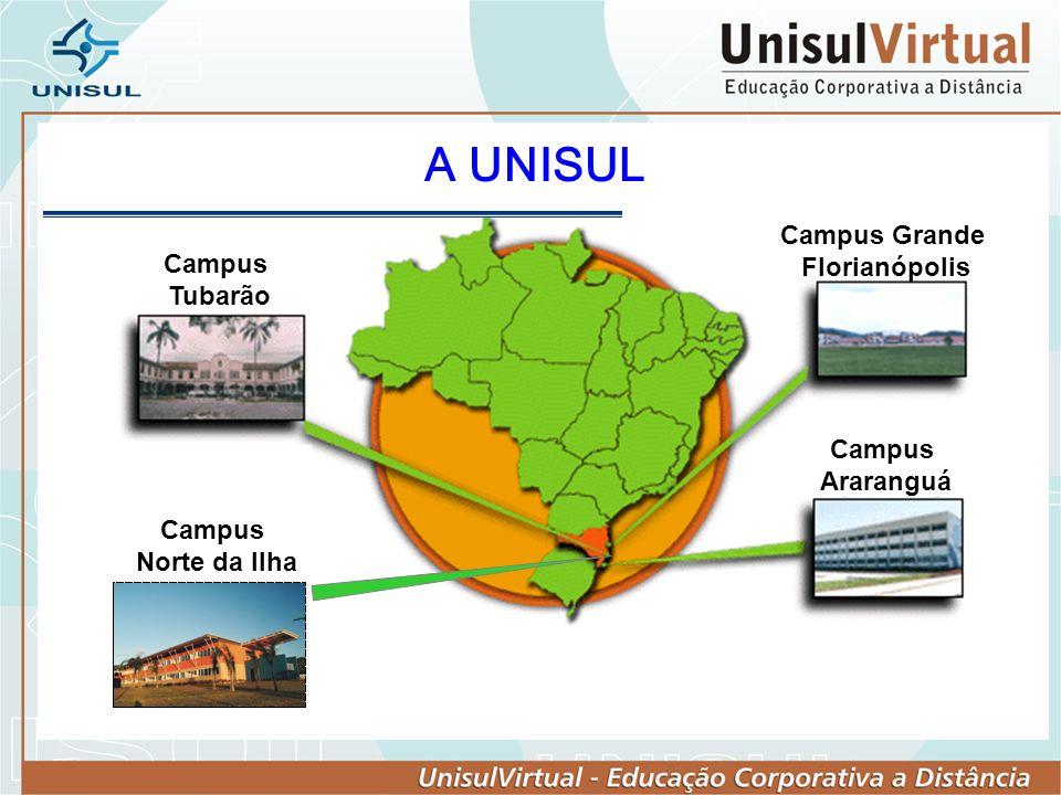 A Unisul: Fundação criada pelo Poder Público Municipal em 1964 Vinculada ao Sistema Estadual de Educação de SC; Integra a ACAFE – Ass.
