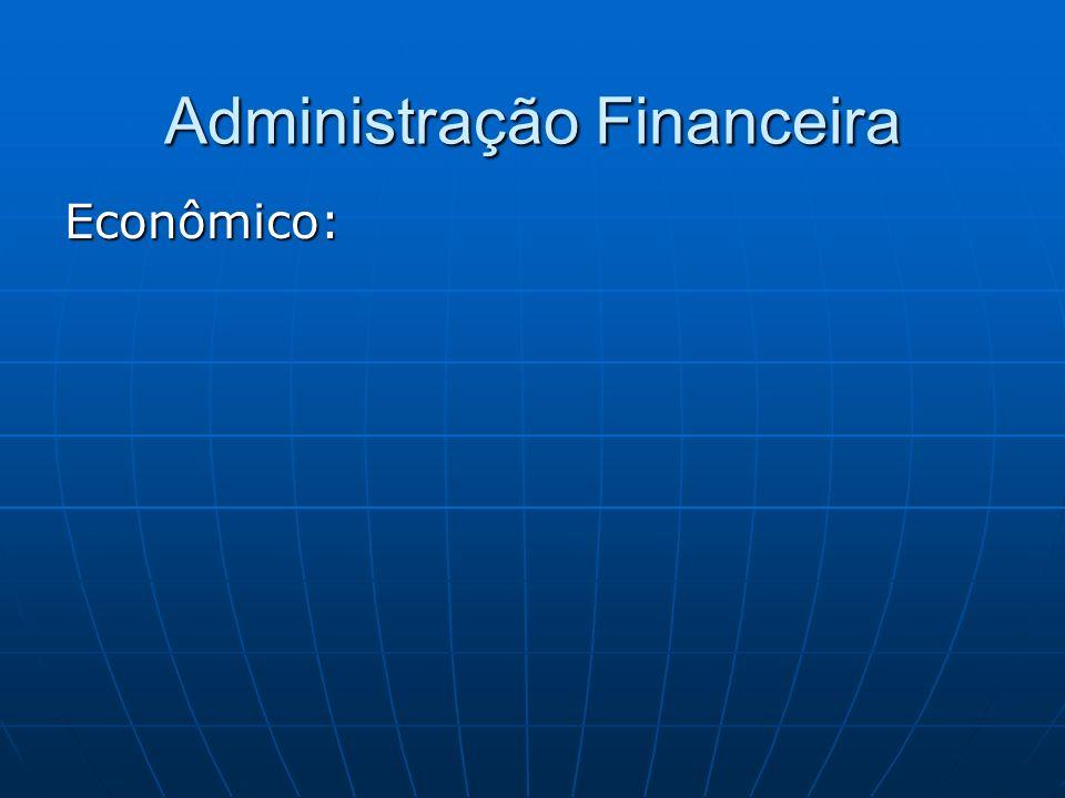 Administração Financeira Econômico: