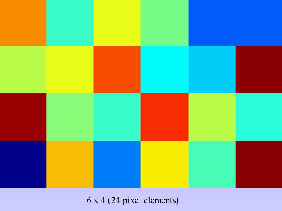 6 x 4 (24 pixel elements)