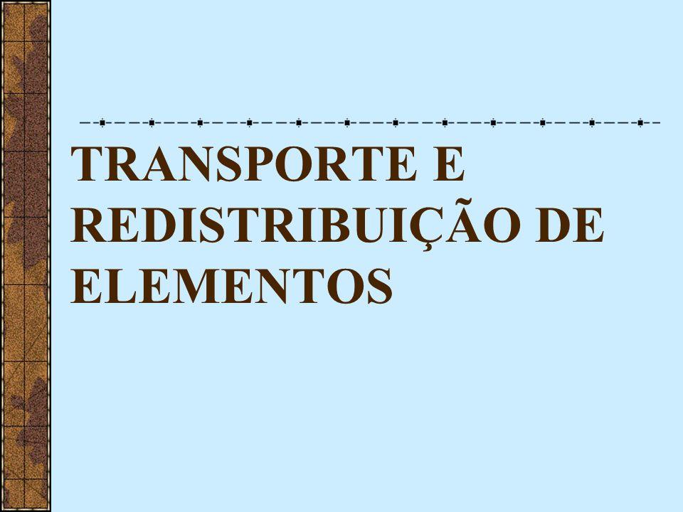 TRANSPORTE E REDISTRIBUIÇÃO DE ELEMENTOS