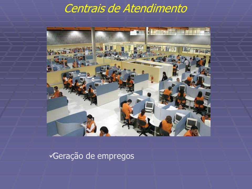 Geração de empregos Centrais de Atendimento