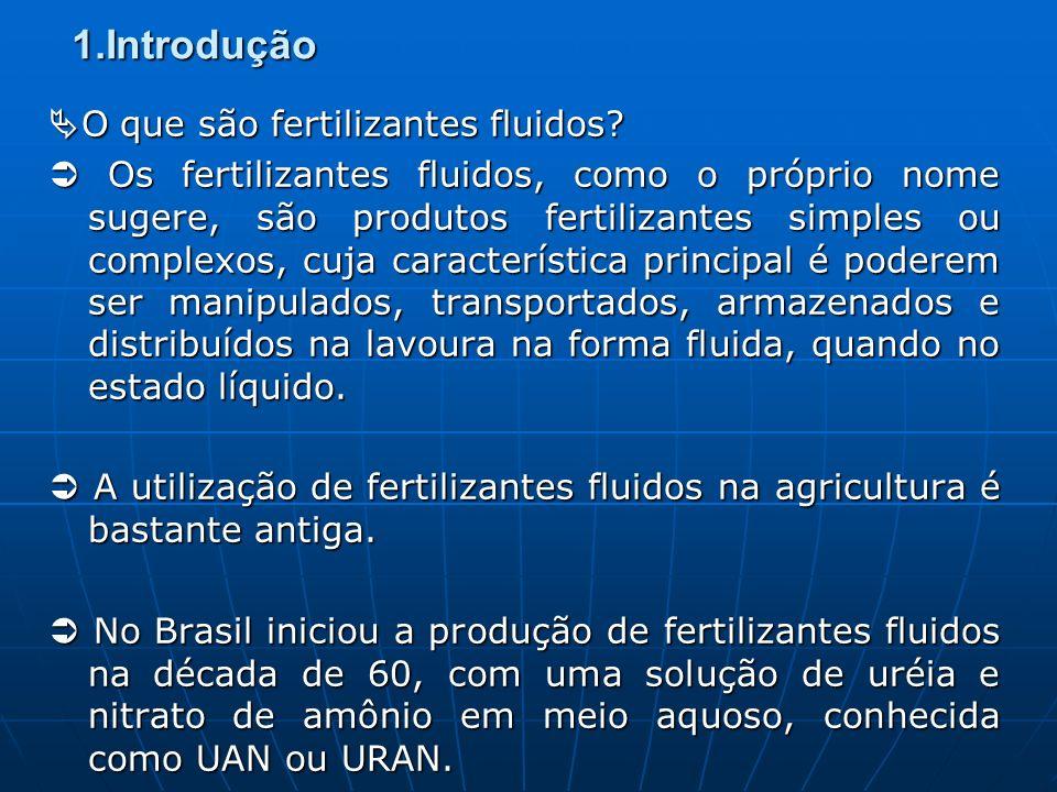 1.Introdução A implantação efetiva da fertilização fluida no Brasil ocorre nos anos 80 (com início na cultura da cana de açúcar).