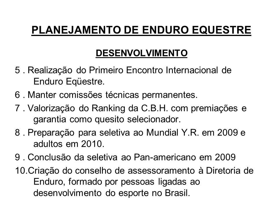 PLANEJAMENTO DE ENDURO EQUESTRE DESENVOLVIMENTO 5.