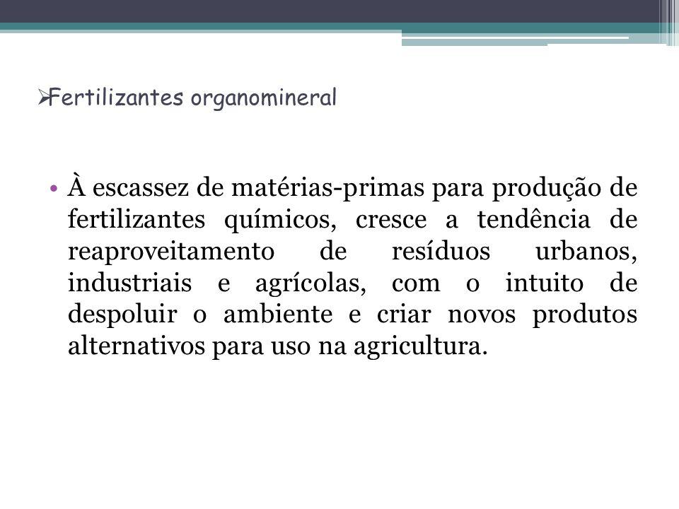 Fertilizantes organomineral À escassez de matérias-primas para produção de fertilizantes químicos, cresce a tendência de reaproveitamento de resíduos