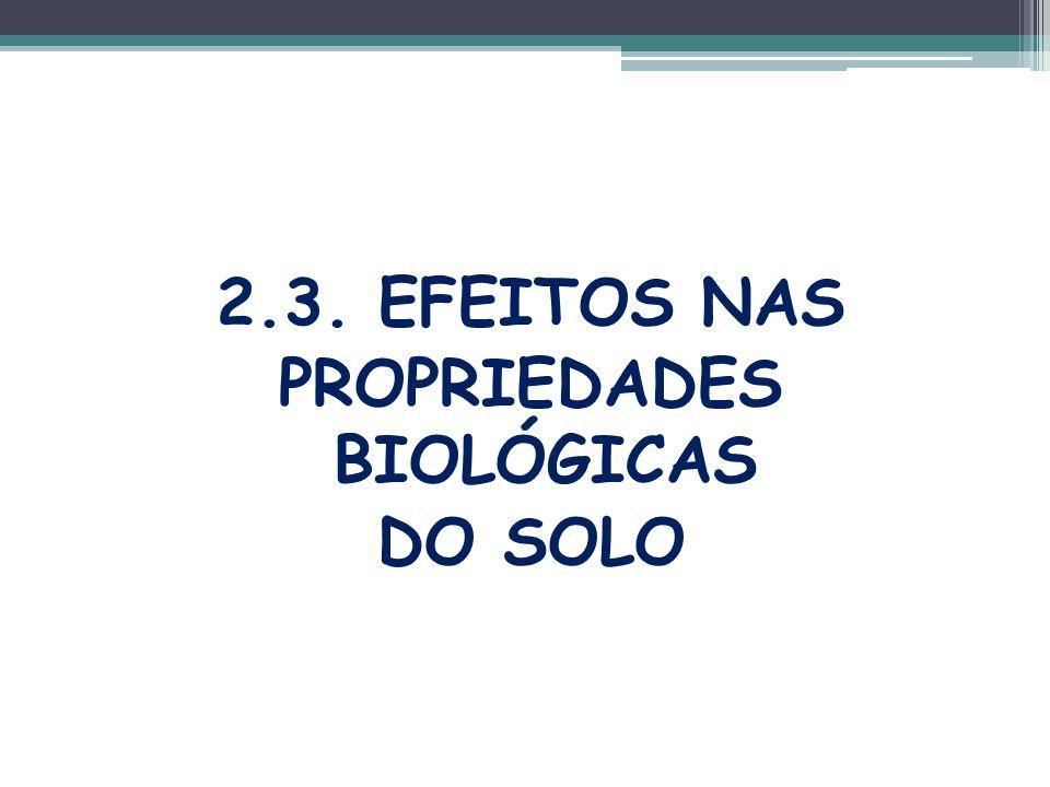 2.3. EFEITOS NAS PROPRIEDADES BIOLÓGICAS DO SOLO