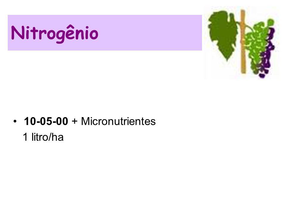 10-05-00 + Micronutrientes 1 litro/ha Nitrogênio