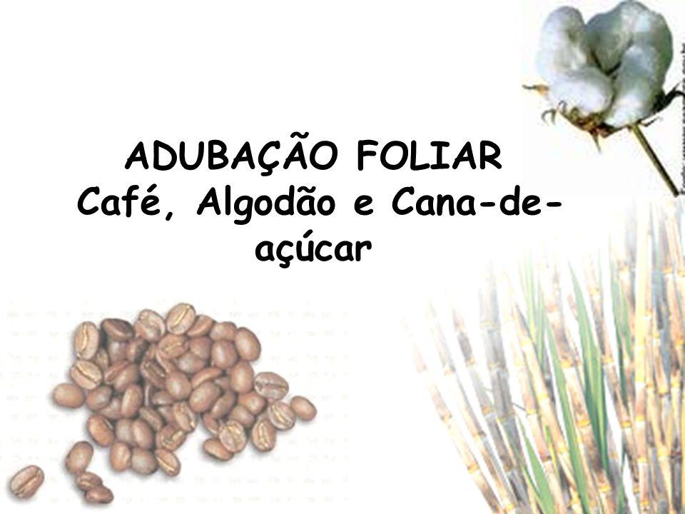 ADUBAÇÃO FOLIAR Café, Algodão e Cana-de- açúcar