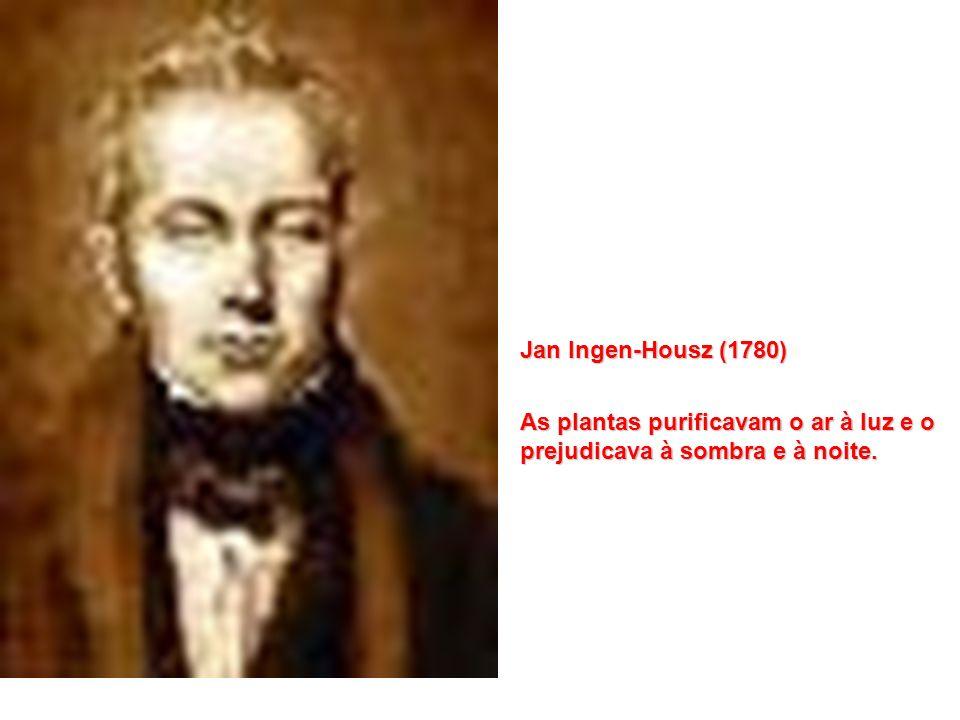 J. Priestley (1770) As plantas purificam o ar Scheele – as plantas também podiam contaminar o ar - respiração