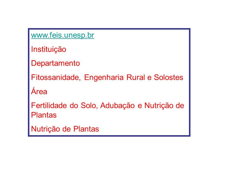 EPSTEIN, E. Nutrição mineral das plantas: princípios e perspectivas. São Paulo: USP, 1975. 341p. MALAVOLTA, E. Elementos de nutrição de plantas. Pirac