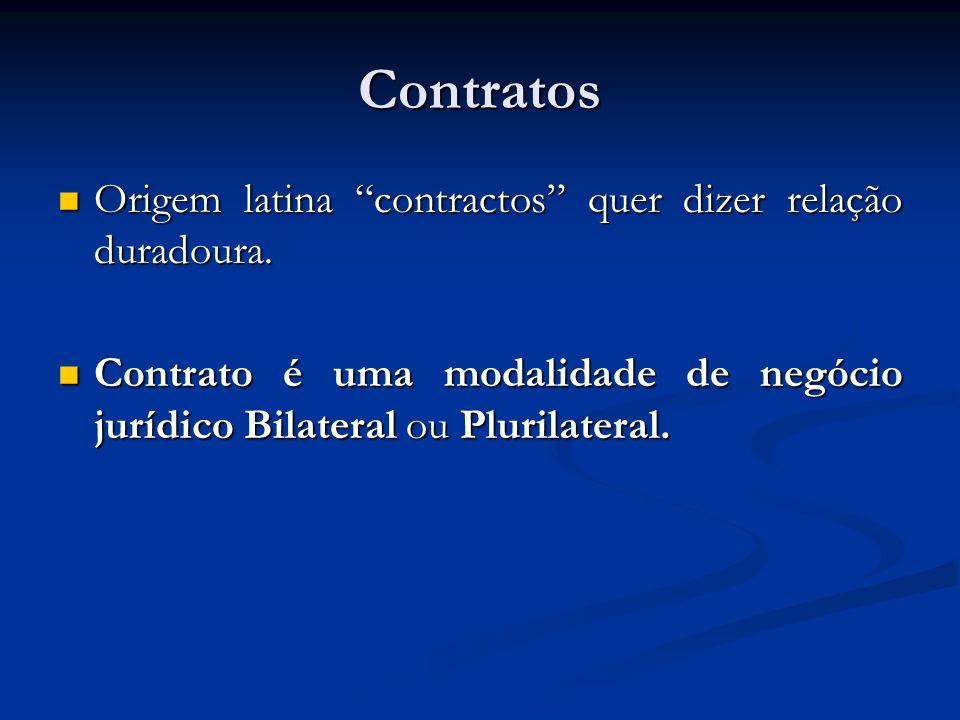 Contratos Origem latina contractos quer dizer relação duradoura. Origem latina contractos quer dizer relação duradoura. Contrato é uma modalidade de n
