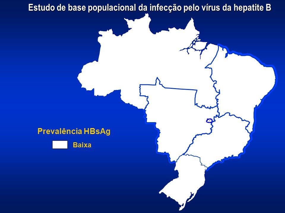 Prevalência HBsAg Baixa Estudo de base populacional da infecção pelo vírus da hepatite B