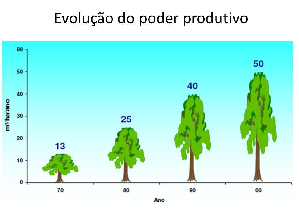 Evolução do poder produtivo