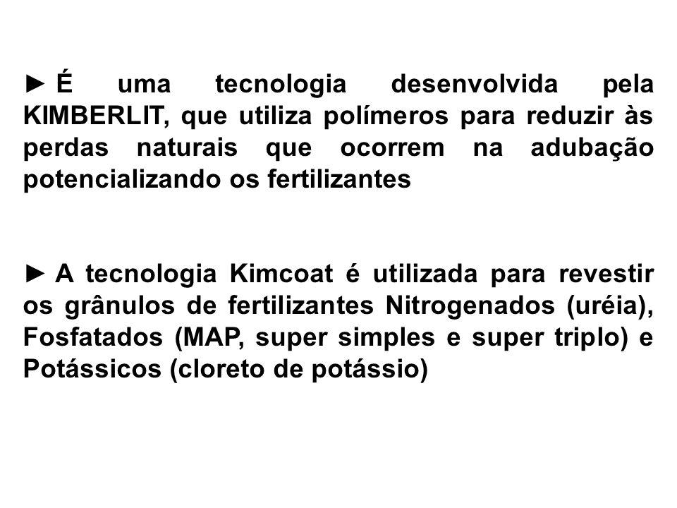 É uma tecnologia desenvolvida pela KIMBERLIT, que utiliza polímeros para reduzir às perdas naturais que ocorrem na adubação potencializando os fertili