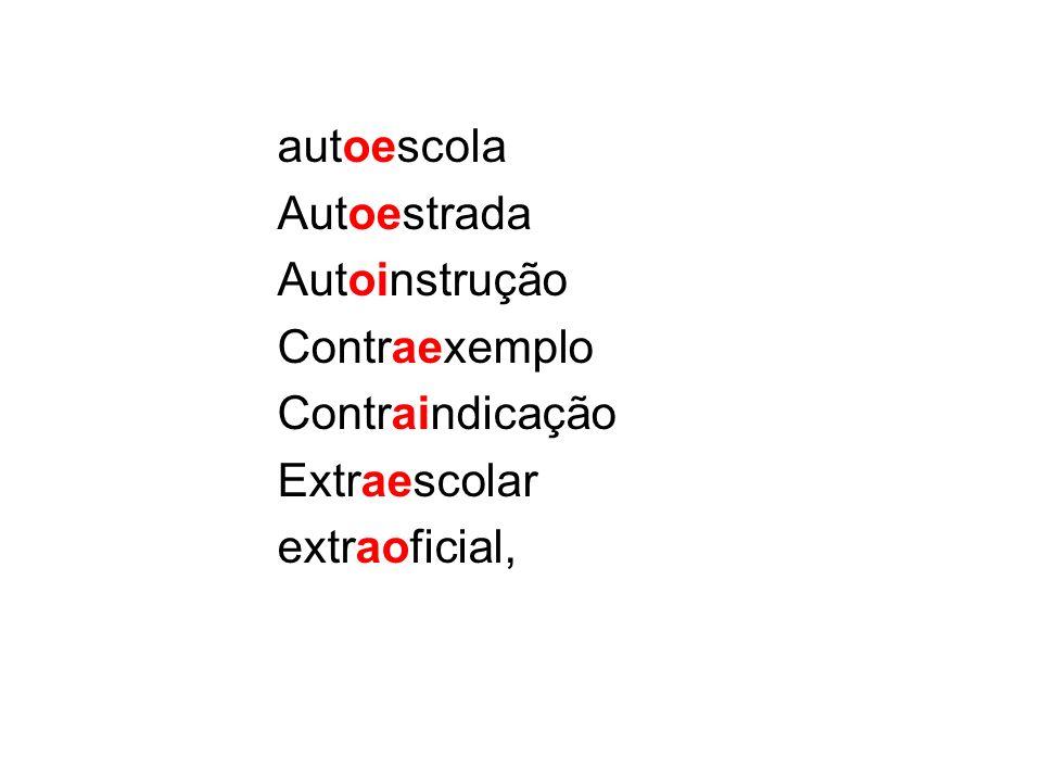 autoescola Autoestrada Autoinstrução Contraexemplo Contraindicação Extraescolar extraoficial,