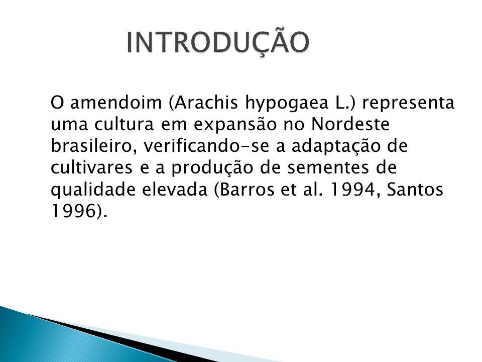 O amendoim (Arachis hypogaea L.) representa uma cultura em expansão no Nordeste brasileiro, verificando-se a adaptação de cultivares e a produção de s