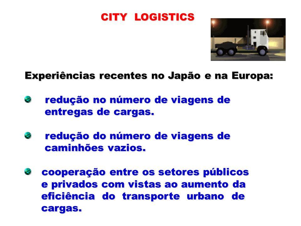 Experiências recentes no Japão e na Europa: redução no número de viagens de redução no número de viagens de entregas de cargas. entregas de cargas. re