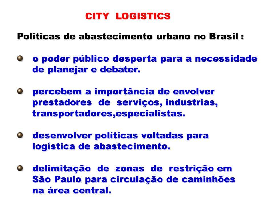 Políticas de abastecimento urbano no Brasil : o poder público desperta para a necessidade o poder público desperta para a necessidade de planejar e de