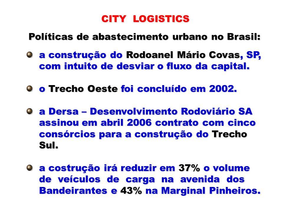 a construção do Rodoanel Mário Covas, SP, a construção do Rodoanel Mário Covas, SP, com intuito de desviar o fluxo da capital. com intuito de desviar