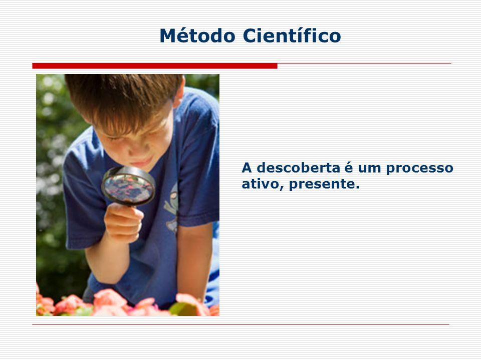 A descoberta é um processo ativo, presente. Método Científico