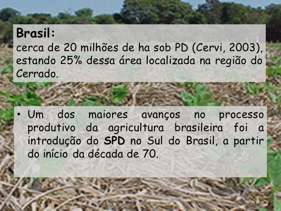 Um dos maiores avanços no processo produtivo da agricultura brasileira foi a introdução do SPD no Sul do Brasil, a partir do início da década de 70. B