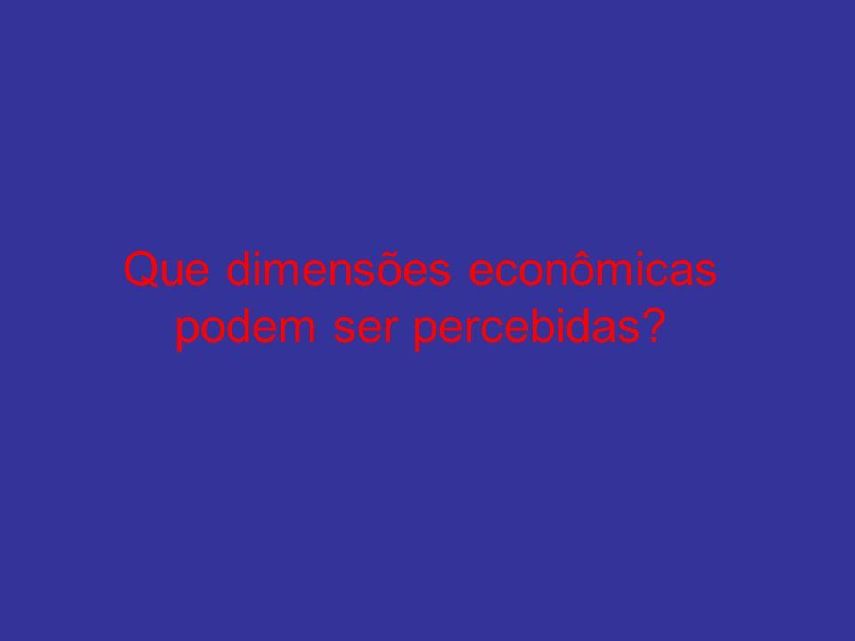 Que dimensões econômicas podem ser percebidas?