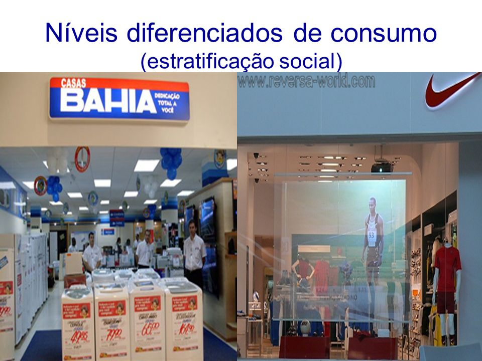 Níveis diferenciados de consumo (estratificação social)
