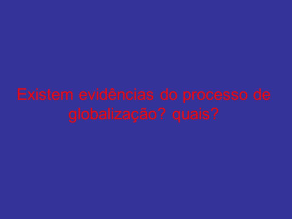 Existem evidências do processo de globalização? quais?