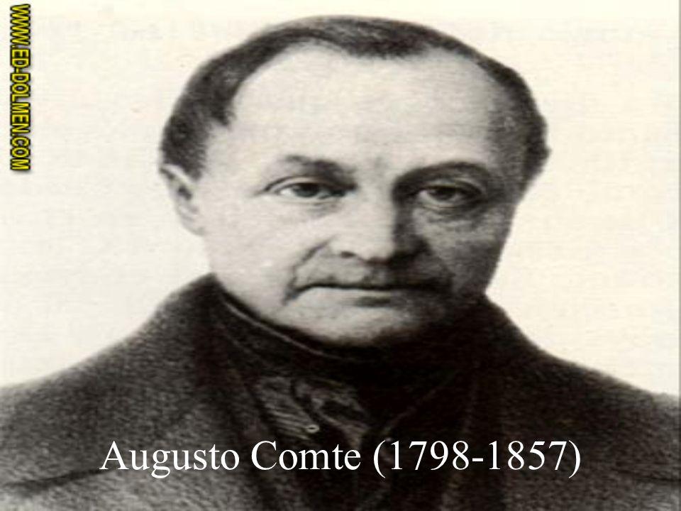 Augusto Comte (1798-1857)