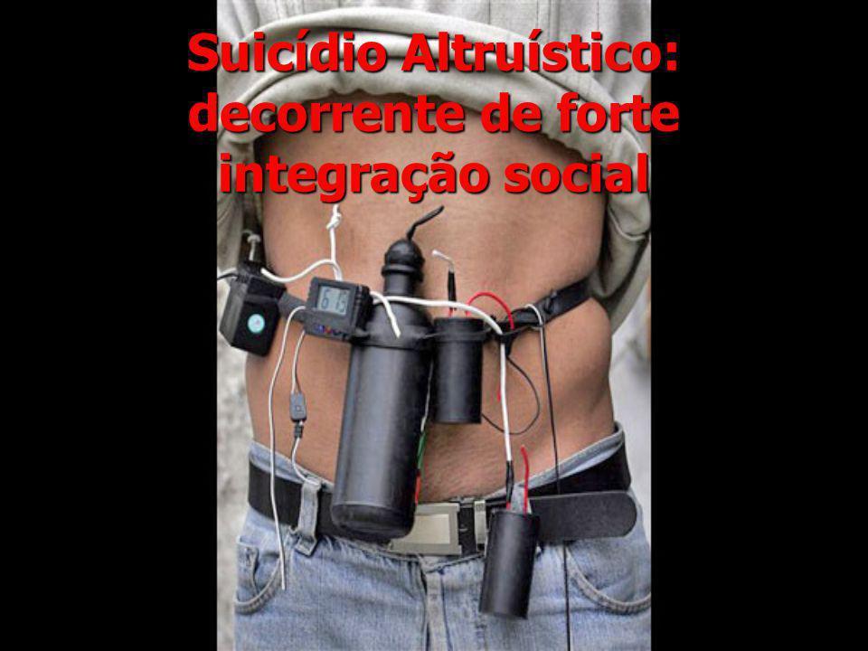 Suicídio Altruístico: decorrente de forte integração social