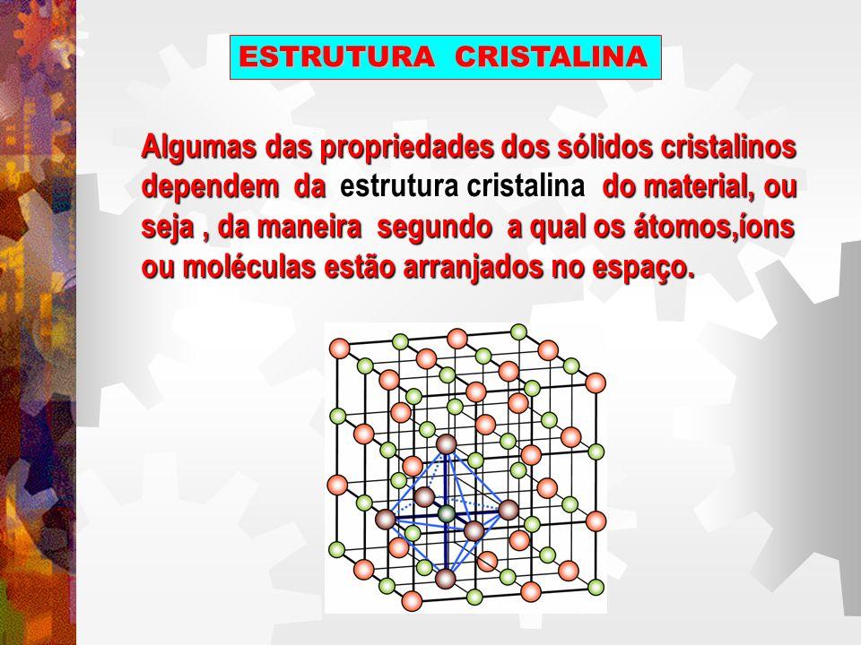 ESTRUTURA CRISTALINA Existe um número extremamente grande de estruturas cristalinas diferentes, todas elas possuindo uma ordenação atômica de longo alcance.