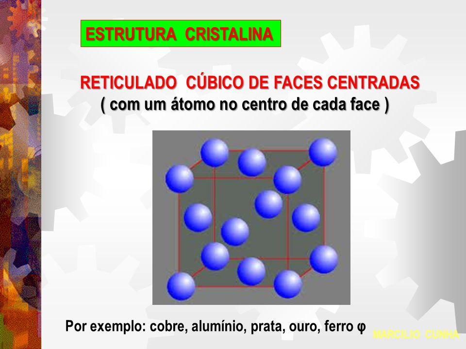 ESTRUTURA CRISTALINA MARCILIO CUNHA HEXAGONAL COMPACTO Prisma hexagonal com um átomo no centro de cada uma das bases e mais três átomos centrais.