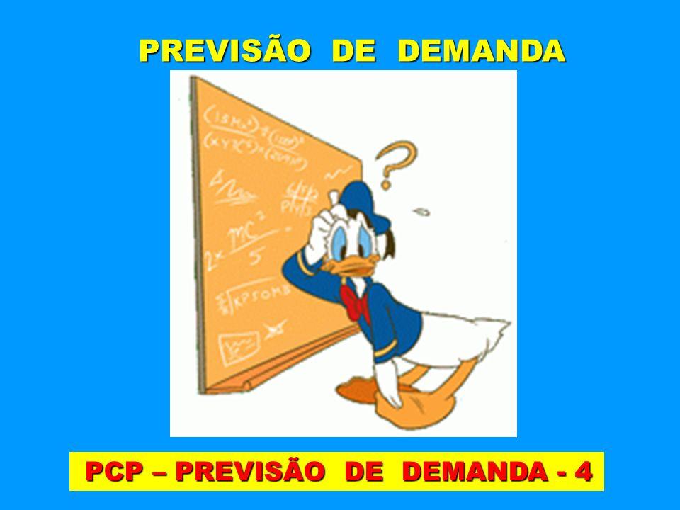PCP – PREVISÃO DE DEMANDA - 4 PCP – PREVISÃO DE DEMANDA - 4 PREVISÃO DE DEMANDA