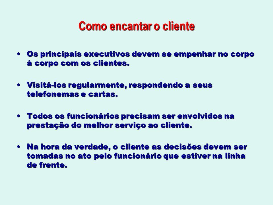Como encantar o cliente Os principais executivos devem se empenhar no corpo à corpo com os clientes.Os principais executivos devem se empenhar no corp