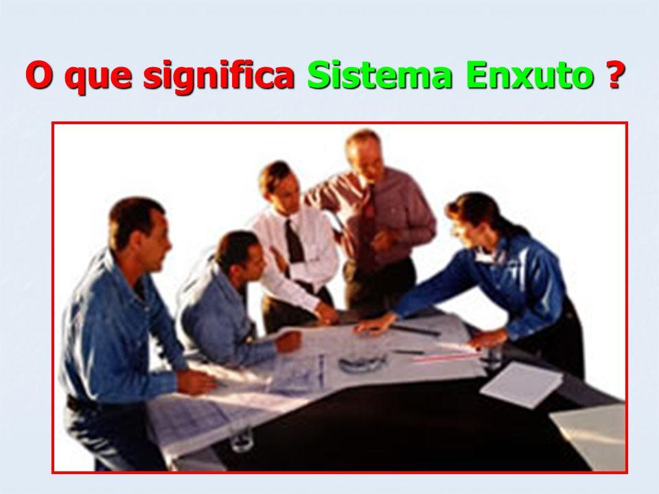 SISTEMA ENXUTO O termo enxuto, como tradução LEAN, surgiu O termo enxuto, como tradução LEAN, surgiu para adjetivar o Sistema Toyota de Produção.