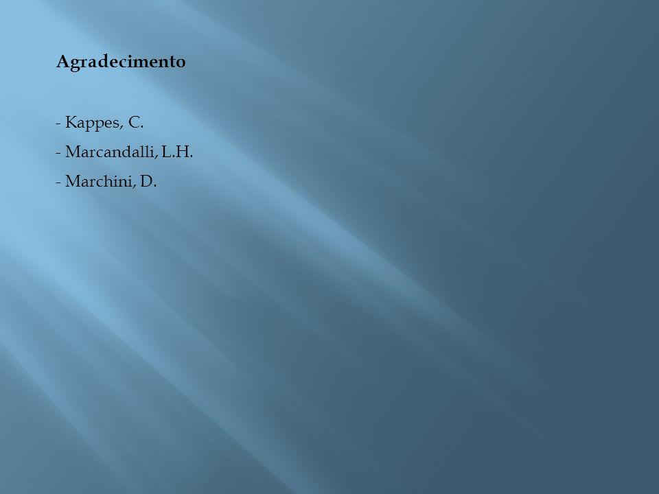 Agradecimento - Kappes, C. - Marcandalli, L.H. - Marchini, D.