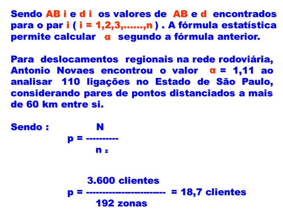 Sendo AB i e d i os valores de AB e d encontrados para o par i ( i = 1,2,3,......,n ). A fórmula estatística permite calcular segundo a fórmula anteri