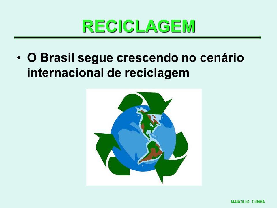 RECICLAGEM O Brasil segue crescendo no cenário internacional de reciclagem MARCILIO CUNHA