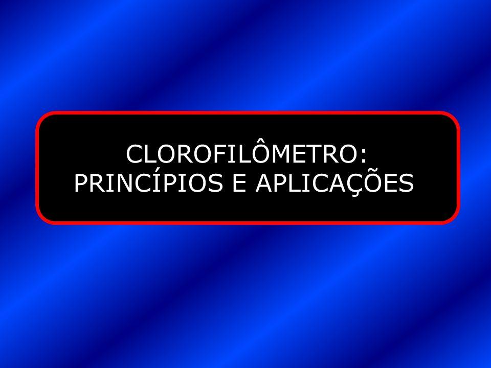 CLOROFILÔMETRO: PRINCÍPIOS E APLICAÇÕES