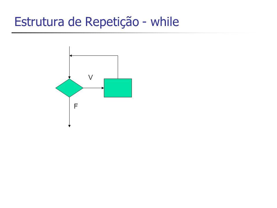 Estrutura de Repetição - while F V