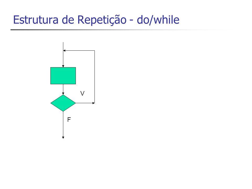 Estrutura de Repetição - do/while F V