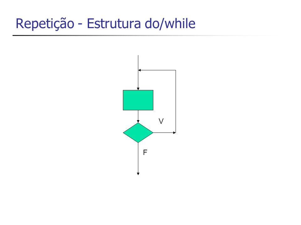 Repetição - Estrutura do/while F V