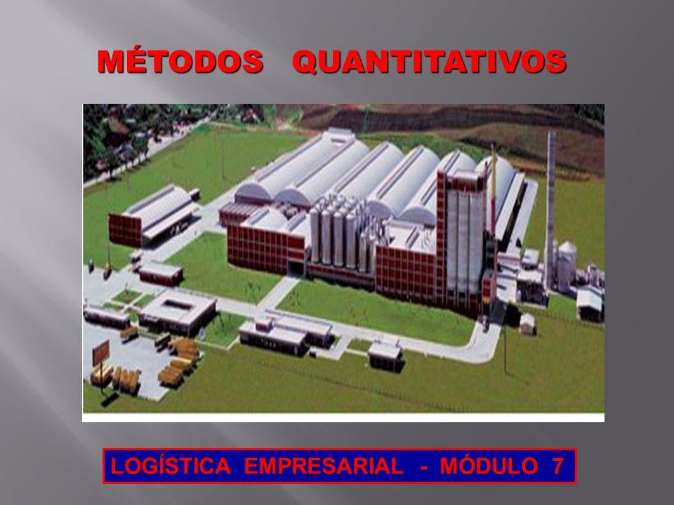 MÉTODOS QUANTITATIVOS MÉTODOS QUANTITATIVOS LOGÍSTICA EMPRESARIAL - MÓDULO 7