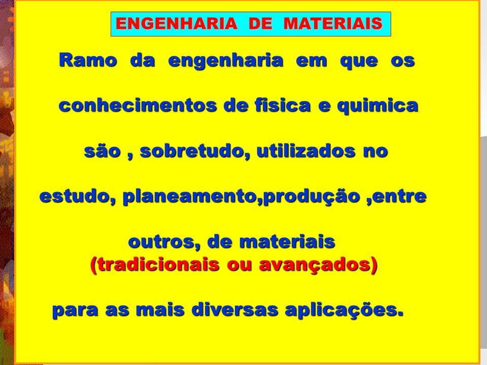 Ramo da engenharia em que os Ramo da engenharia em que os conhecimentos de fisica e quimica conhecimentos de fisica e quimica são, sobretudo, utilizad