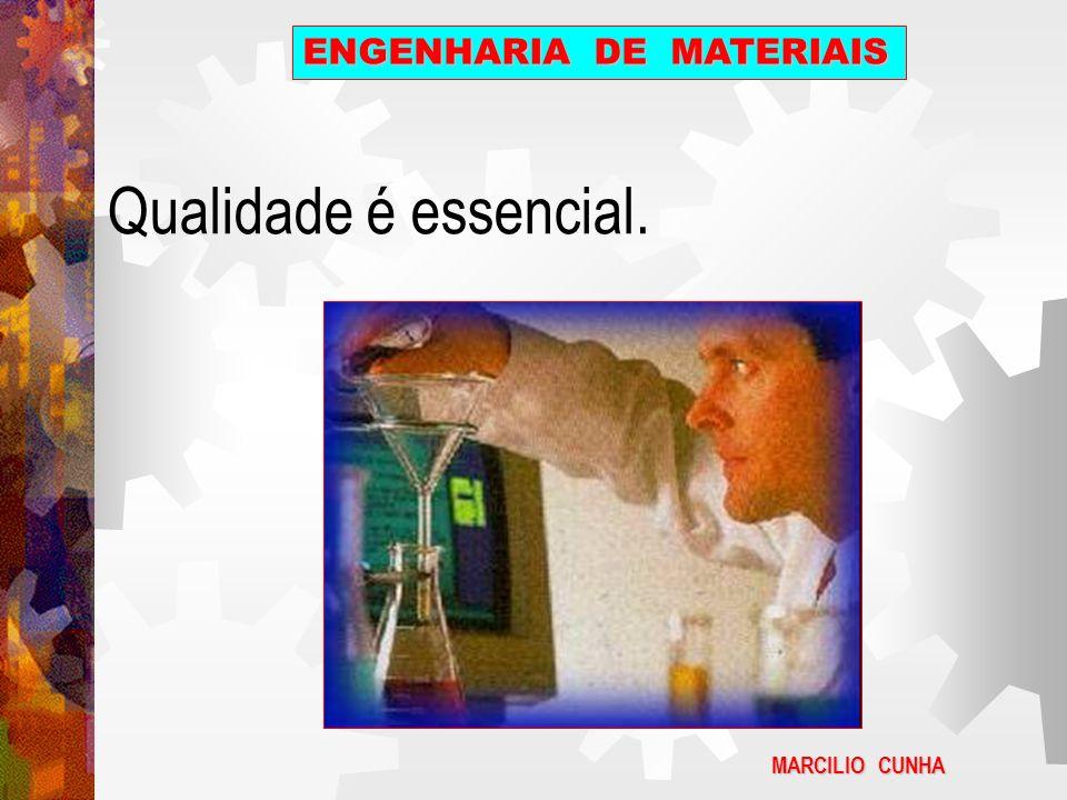 Qualidade é essencial. MARCILIO CUNHA ENGENHARIA DE MATERIAIS
