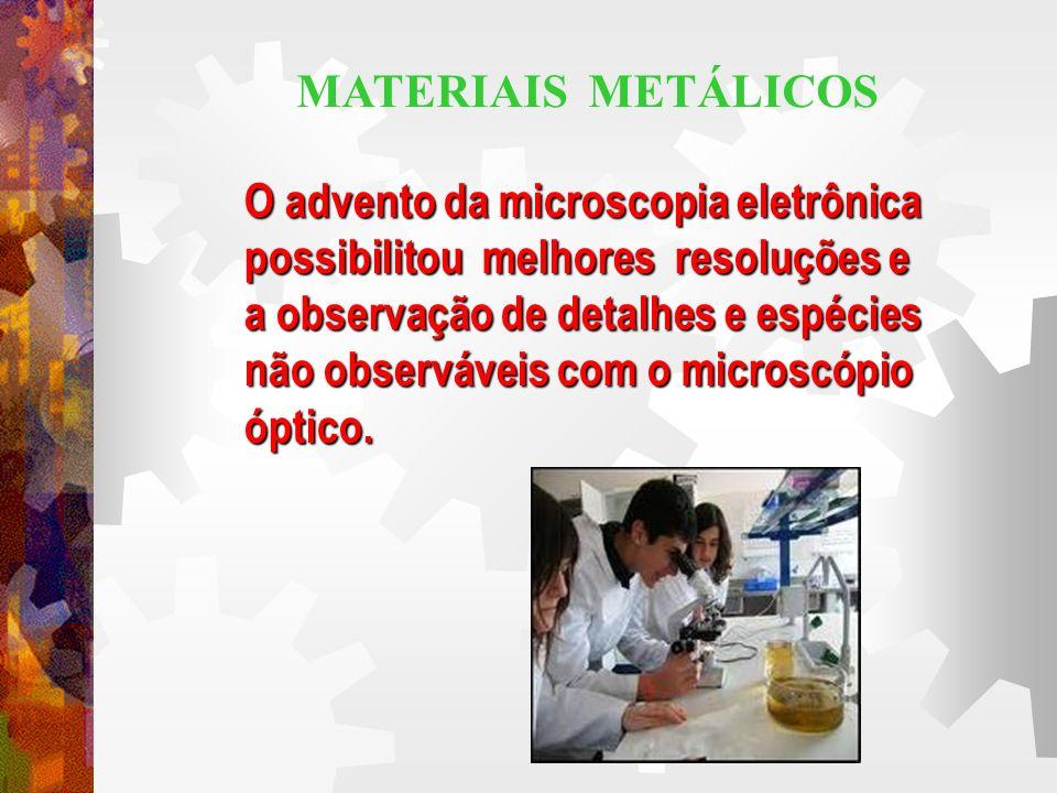 O advento da microscopia eletrônica possibilitou melhores resoluções e a observação de detalhes e espécies não observáveis com o microscópio óptico.
