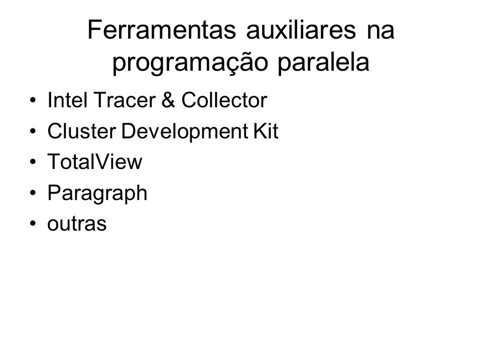Ferramentas auxiliares na programação paralela Intel Tracer & Collector Cluster Development Kit TotalView Paragraph outras
